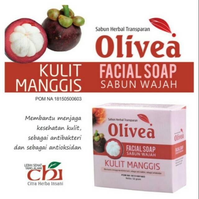 Sabun Wajah Herbal Olivea Kulit Manggis Untuk Perawatan Kulit Wajah Secara Alami Shopee Indonesia