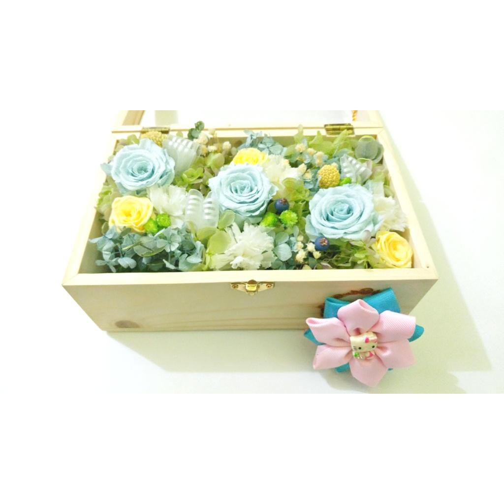 Amefurashi Bloom Box Lavender Rose Beauty Preserved Flower Uk 10 x10 cm Beautiful | Shopee Indonesia