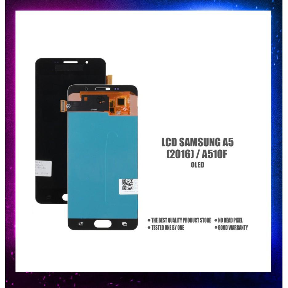 LCD+TOUCHSCREEN SAMSUNG A 5 (2016) A 510 F OLED - Hitam