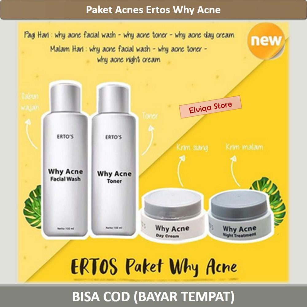 Paket Acnes Ertos Why Acne Toner Facial Wash Night ...