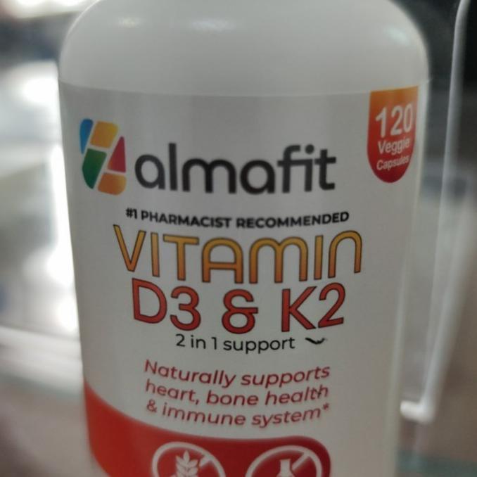 Almafit Obat Vitamin D3 & K2 5000Iu 90 120Caps - 120Caps Alertatoko