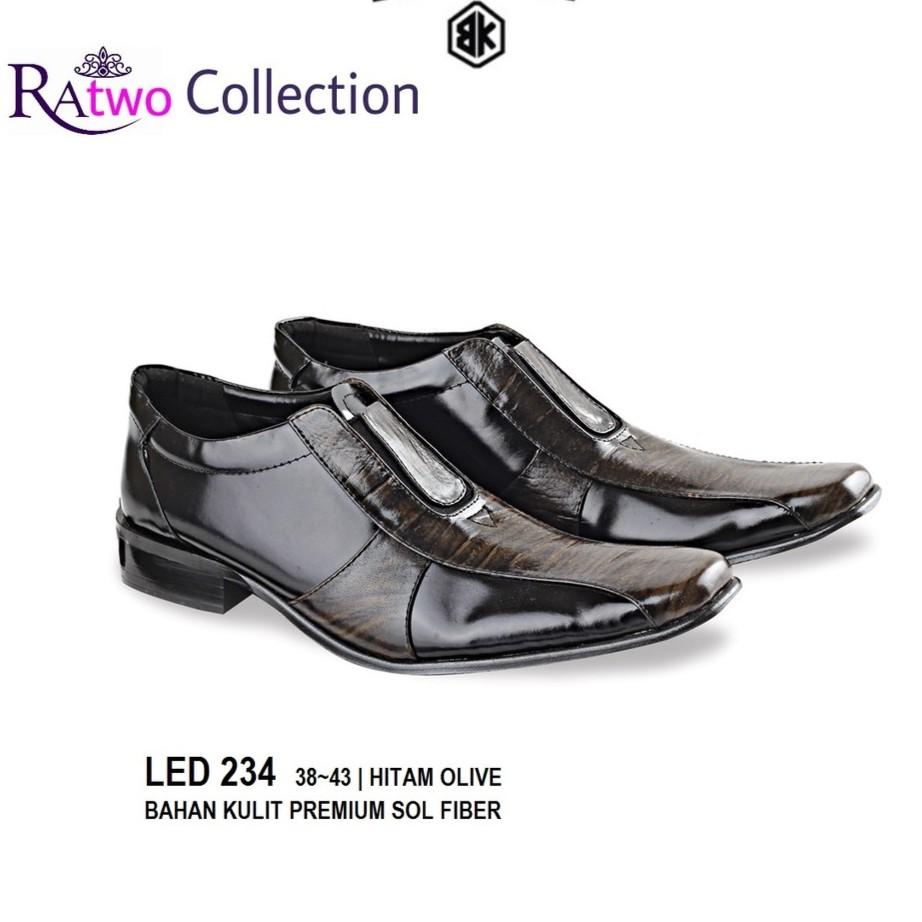 Sepatu Formal Pria / Sepatu Pantofel Cowok / Sepatu Kantor Kulit Asli Hitam Original   Shopee