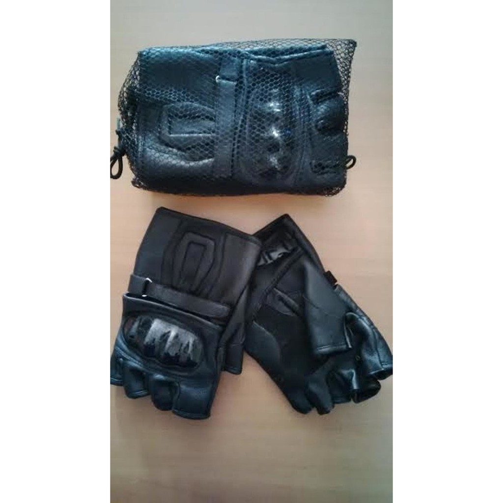 Sarung Tangan Motor Batok Kulit Asli Garut Sk 03 Shopee Indonesia Half Protection Brown Best Seller