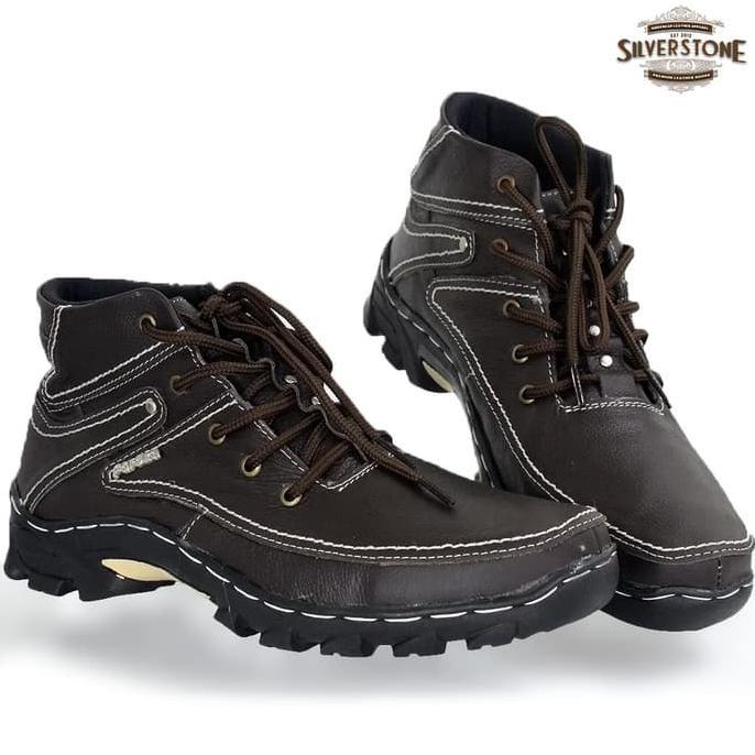 Sepatu Pria Remaja Casual Boot Cokelat By Garsel Footwear - Gud 1038 Real Pict,.. | Shopee Indonesia