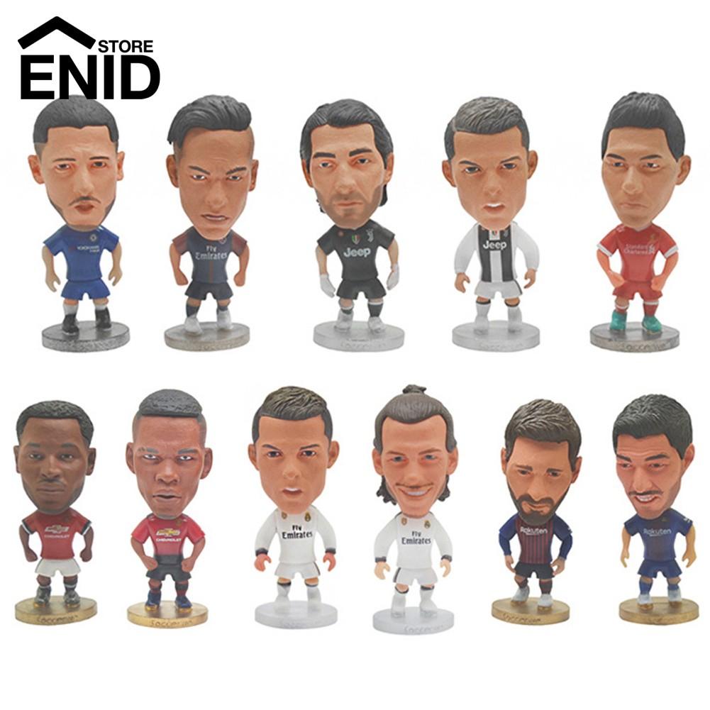 Mainan Action Figure Pemain Bola Manchester United Messi Bahan Pvc
