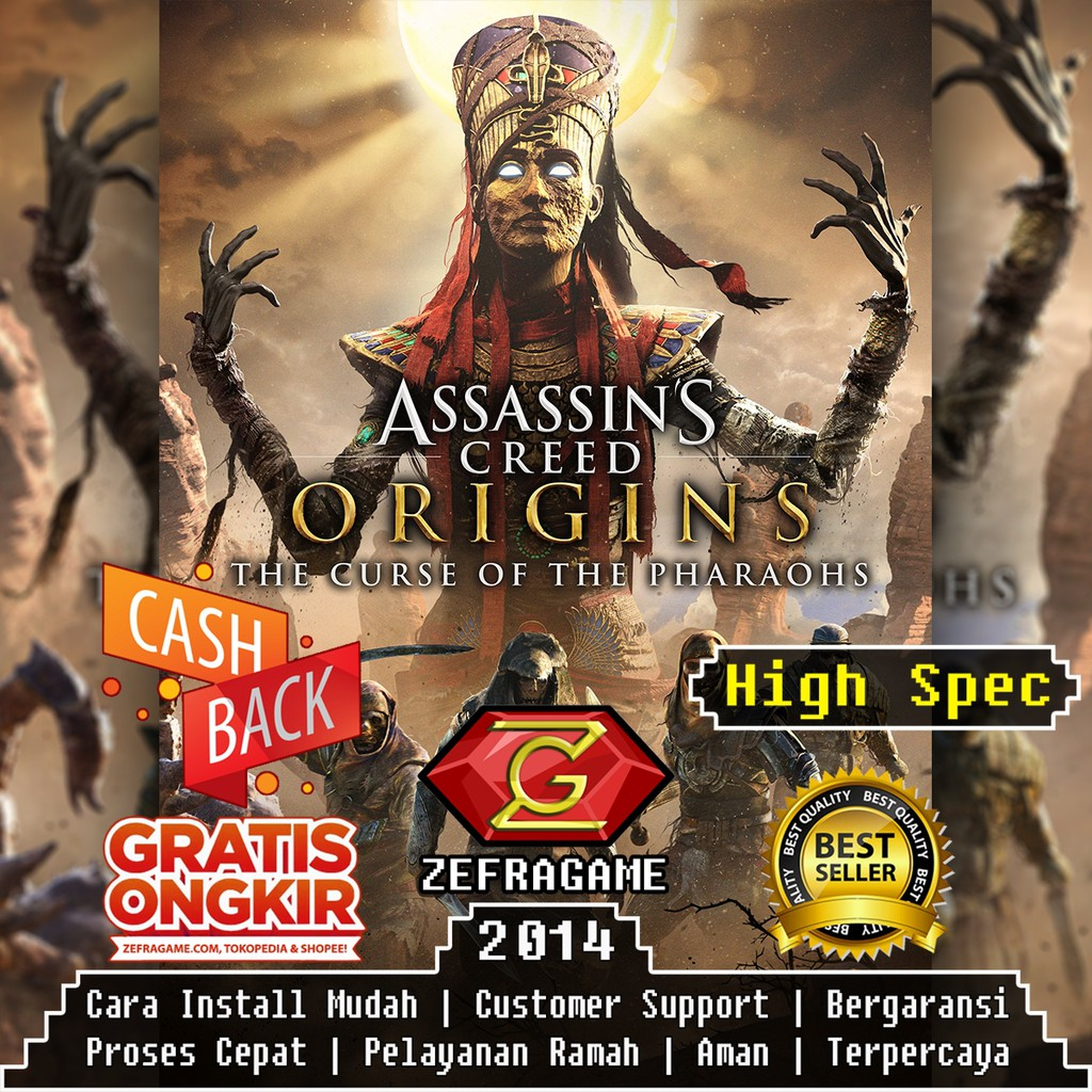 Assassins Creed Origins Deluxe Edition Assassin Creed Origin Dvd Game Pc Kaset Game Laptop Shopee Indonesia