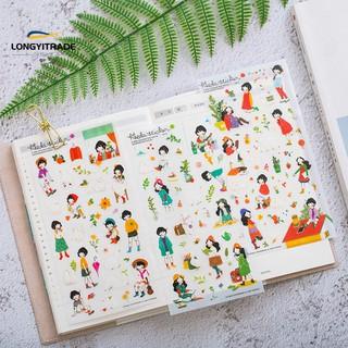 Lyt 6pcs Girl Stationery Sticker Diary Waterproof Shopee