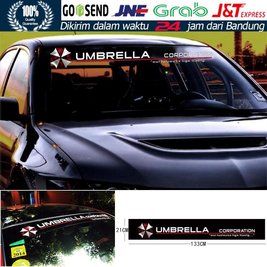 Sticker Stiker Kaca Depan Mobil Anti Air Umbrella ...