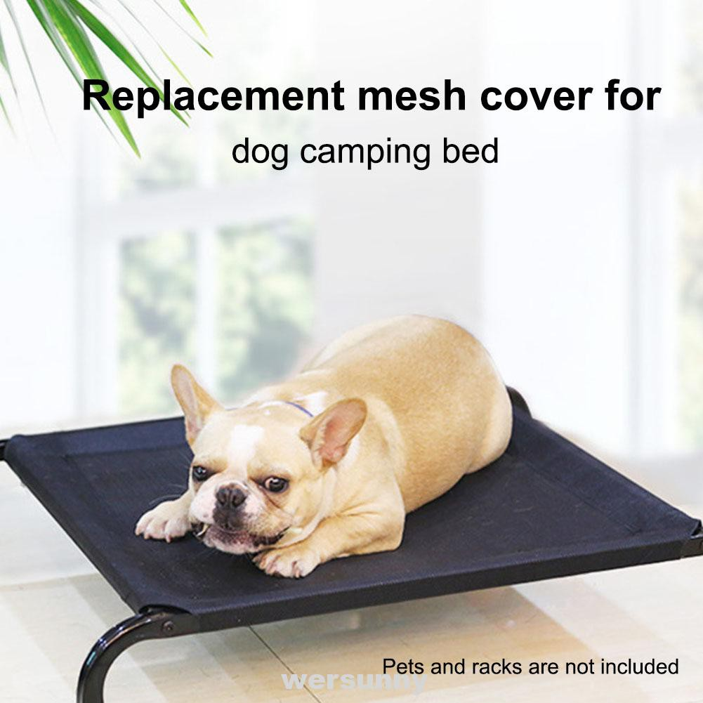 Washable Durable Pet Supplies Portable Mesh Fabric Indoor Outdoor Dog Bed Shopee Indonesia