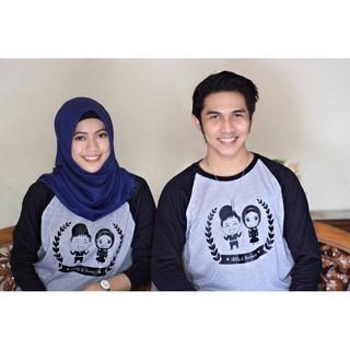 Kaos Couple Bisa Sablon Namamu dan Pasangan / kaos Couple Romantis Bisa Cetak Nama   Shopee Indonesia