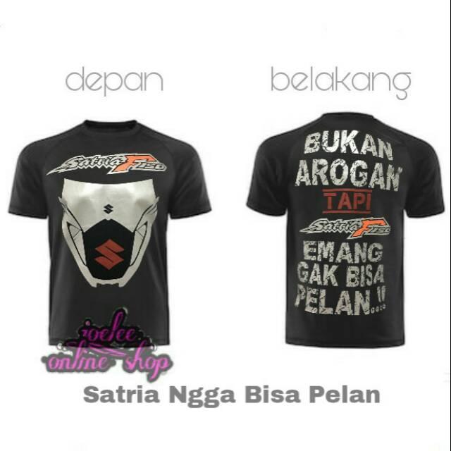 Pakaian Pria Kaos Baju Tshirt Moto GP ROSSI BULAN SABIT BLUE   Shopee Indonesia. Source · Kaos motor suzuki satria .