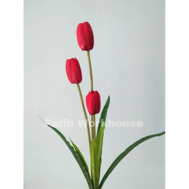 Bunga Tulip Bunga Artificial Bunga Hias Bunga Plastik Shopee Indonesia