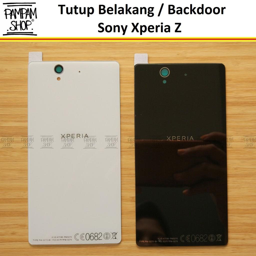 Tutup Belakang Baterai Casing Backdoor Back Door Cover Sony Xperia Z3 Original OEM Hitam Putih Z