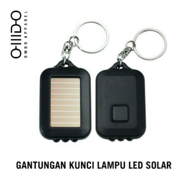 Gantungan kunci LED solar panel charger lampu center mini bisa di bawa kemana-mana. | Shopee Indonesia