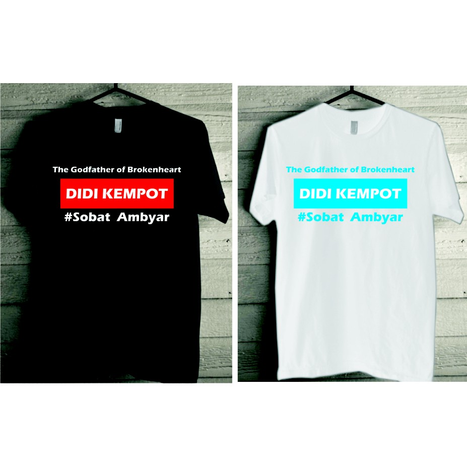 Kaos Oblong Distro Didi Kempot Sobat Ambyar Text Shopee Indonesia