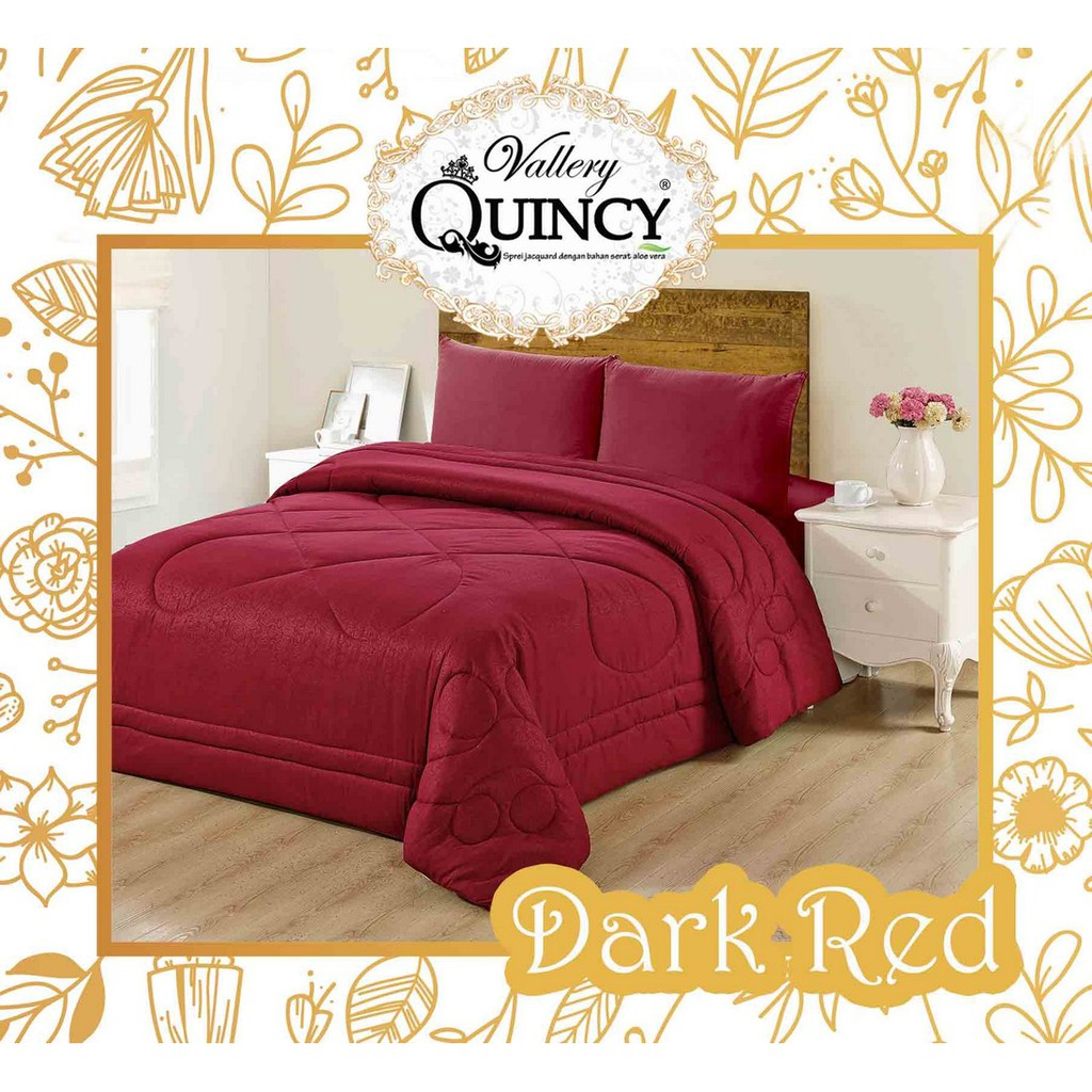 Furniture Vallery Daftar Harga Desember 2018 Merk Bed Cover Jacquard Bedcover Quincy Dark Red Queen Size 160 Cm King 180