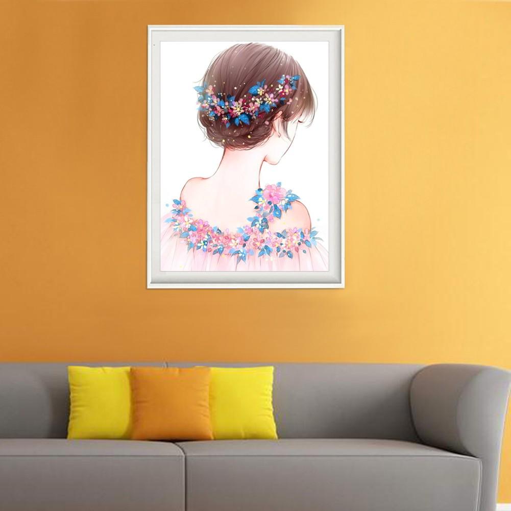 Lukisan Diamond 5D DIY Gambar Perempuan Cantik Untuk Dekorasi Rumah