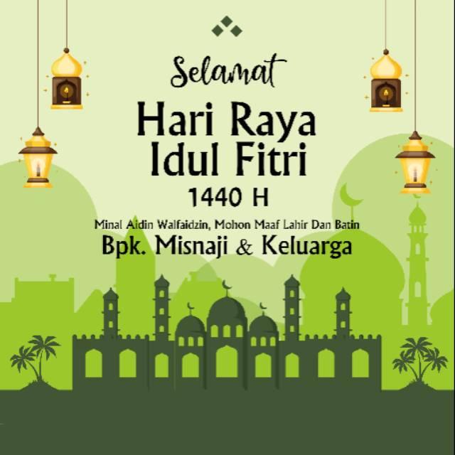 Ucapan Selamat Hari Raya Idul Fitri Soft File Free Ongkir