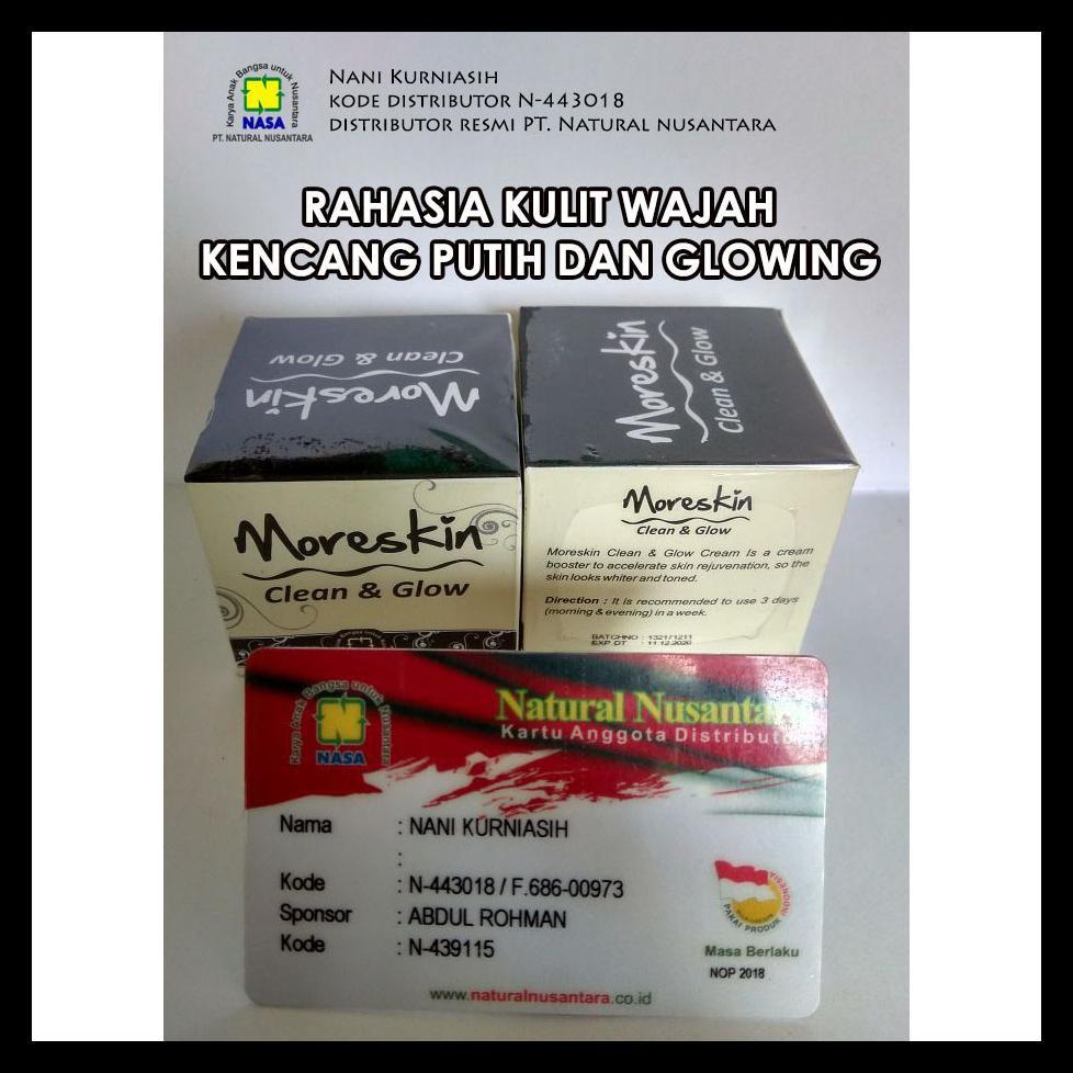 Ready Stock Moreskin Clean And Glow Cream Nasa Kulit Kencang Putih Dan Glowing Shopee Indonesia
