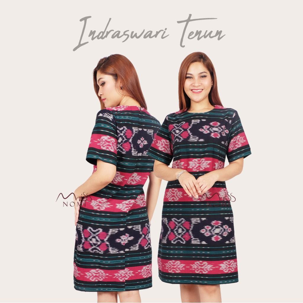 Perbandingan Harga New Dress Tenun Asli Jepara Kombinasi Brokat