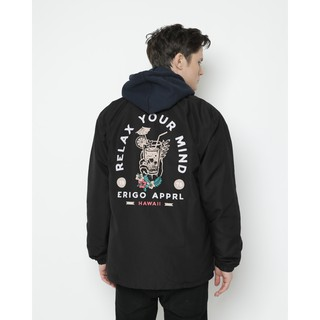 Erigo Coach Jacket Your Mind Black