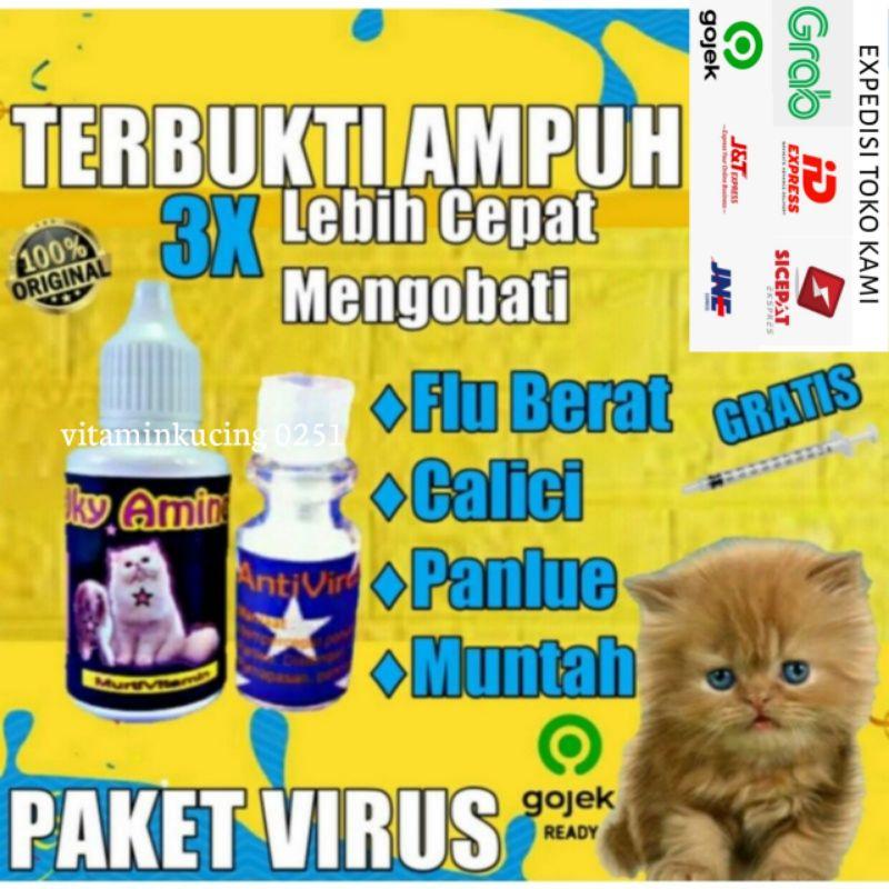 D2 Paket Vitamin Obat Virus Calici Distemper Muntah Flu Dan Batuk Pilek Mencret Kucing 30ml Shopee Indonesia