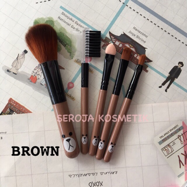 Brush Makeup Line Brown Character