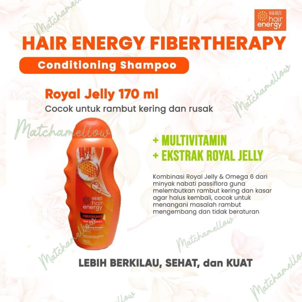 ❄️MATCHA❄️MAKARIZO HAIR ENERGY FIBERTHERAPY CONDI SHAMPOO 170 320 ML SAMPO PEMBERSIH RAMBUT 2IN1-7