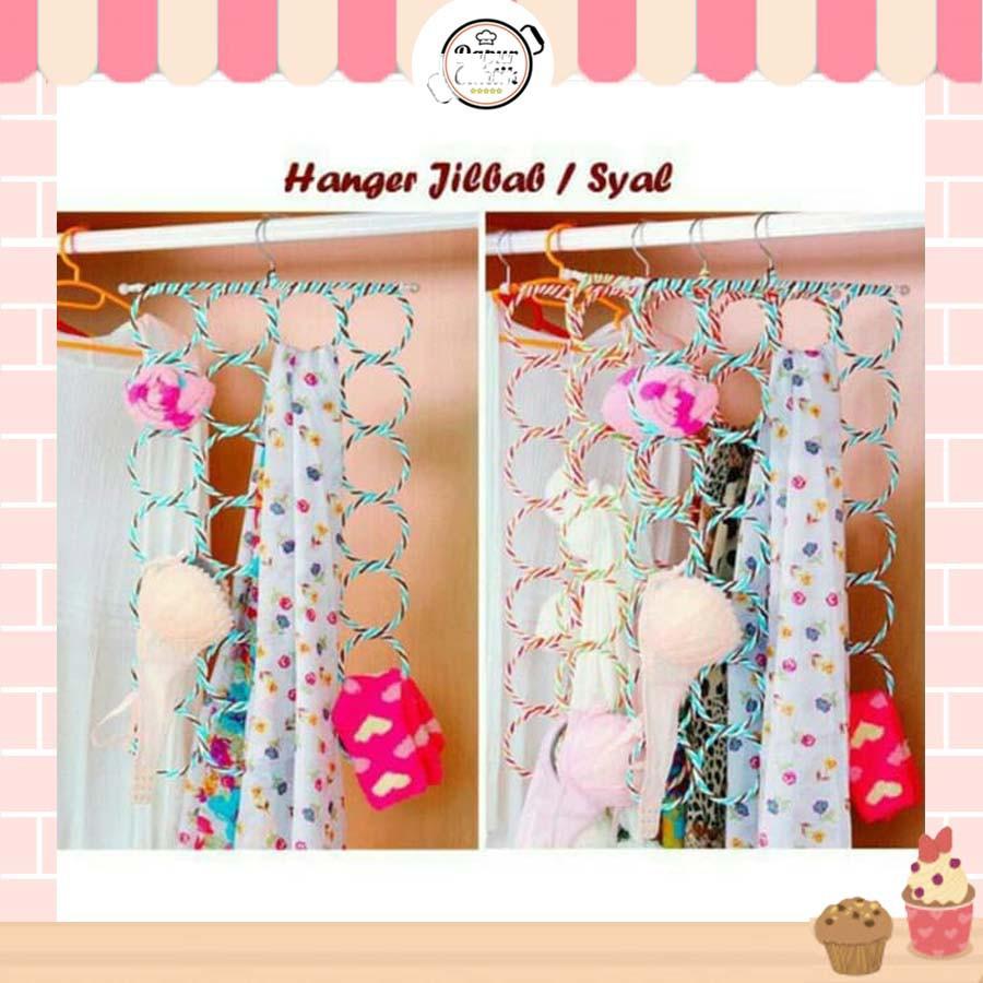 DapurCantik Gantungan Hijab 12 Ring Hanger Bulat Unik untuk Gantungan  Jilbab Hijab Syal Scarf - GHJ