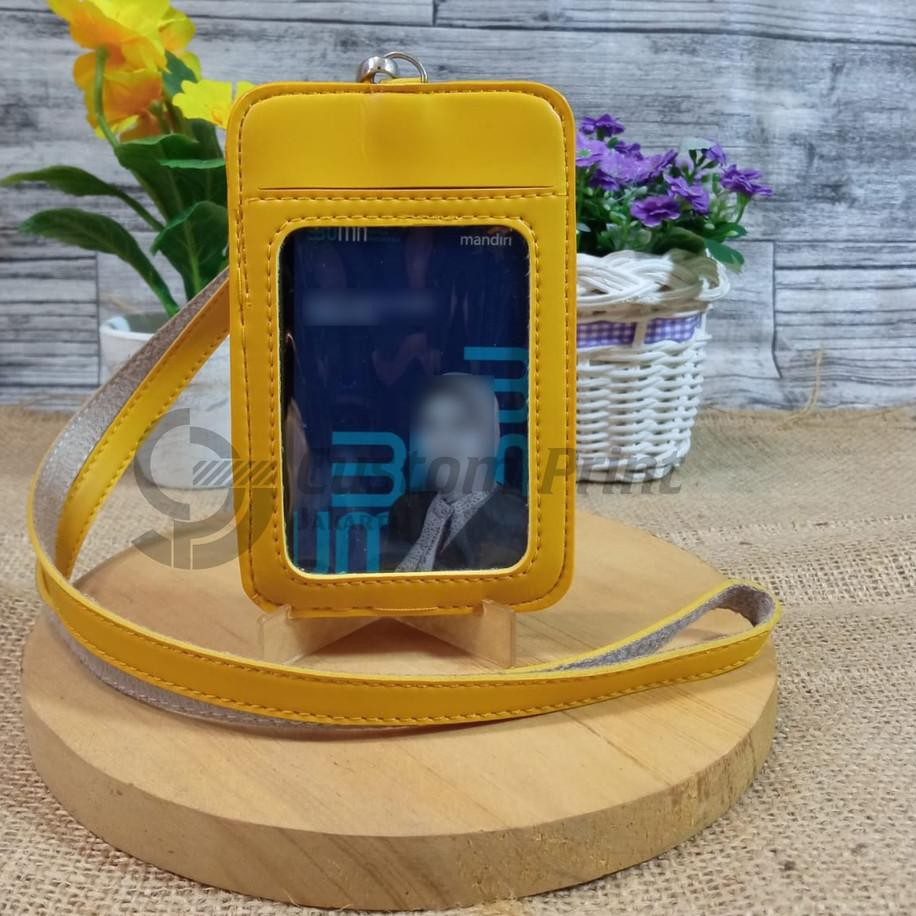 Harga Bersahabat Name Tag Kulit Card Holder ID Card Tali Gantungan kalung SH5,,,