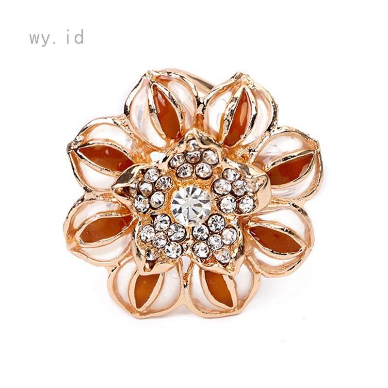 b9c38228a Fashion Opal Stone Tulip Brooch Pin Elegant Jewelry Flower Brooches    Shopee Indonesia
