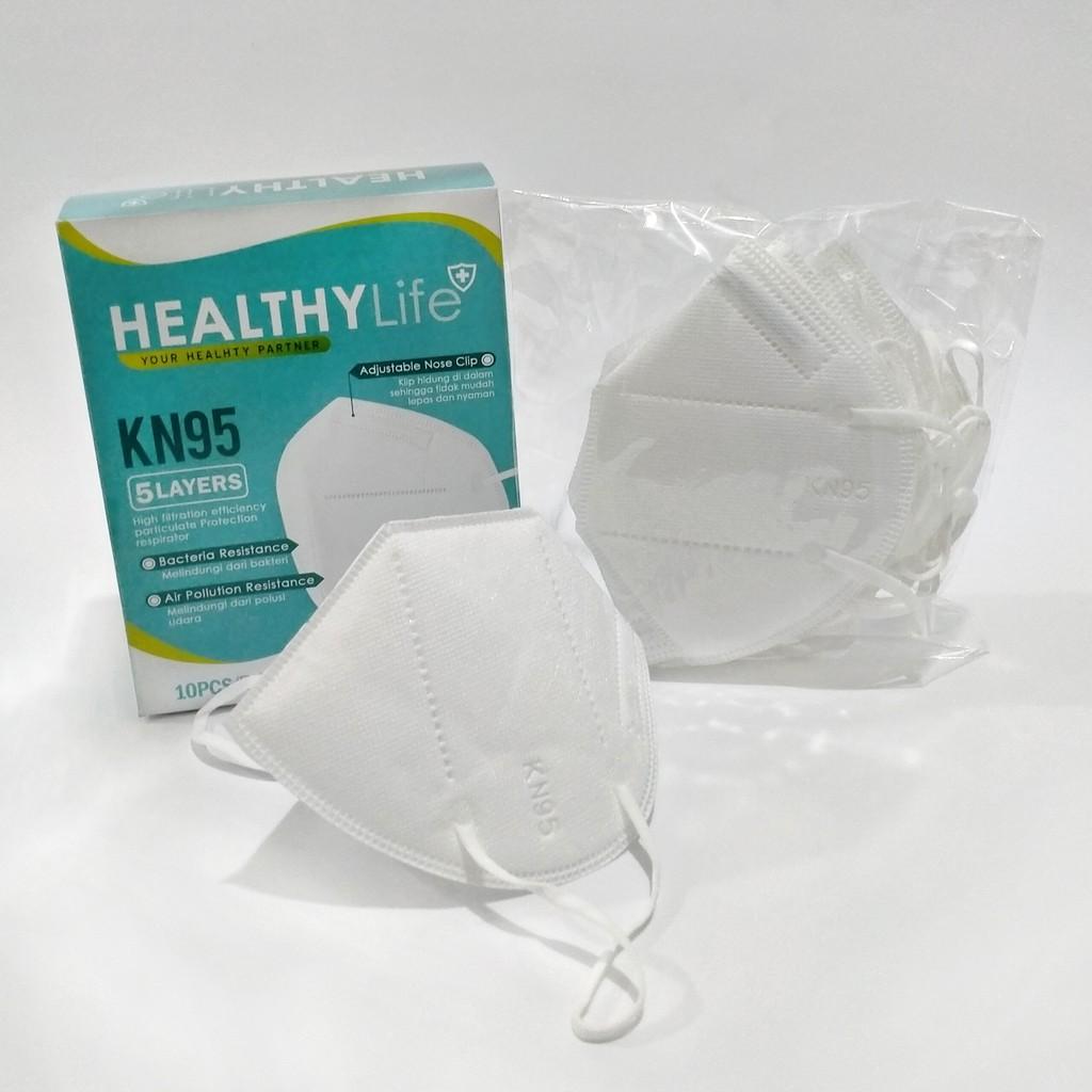 Healthylife Mask Kn95 5ply 5layer Kemasan Plastik Klip Pcs Masker Kn95 Mask Kn 95 Masker Kn 95 K N95 Shopee Indonesia