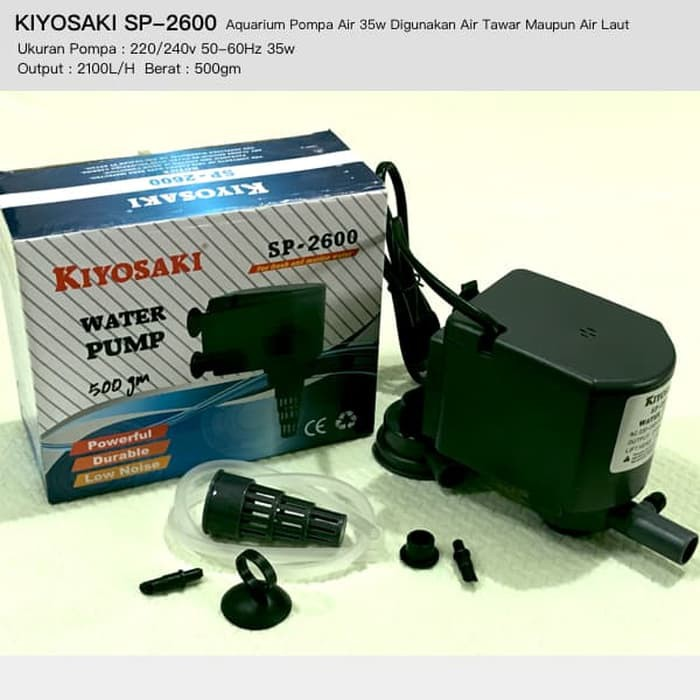 Aquarium pompa Air 12w KIYOSAKI SP881 Bisa Digunakan Air Tawar & Laut | Shopee Indonesia