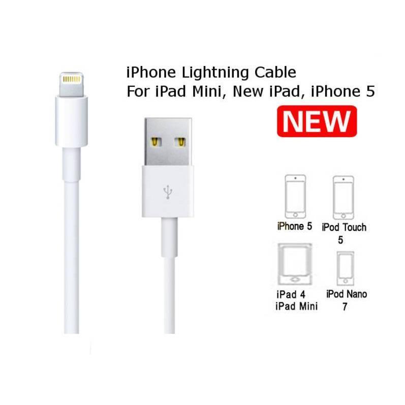 Kabel Data Iphone 5 / Kabel Data Iphone 6 / Kabel Charger Ipad 3/4 & ipadMini | Shopee Indonesia