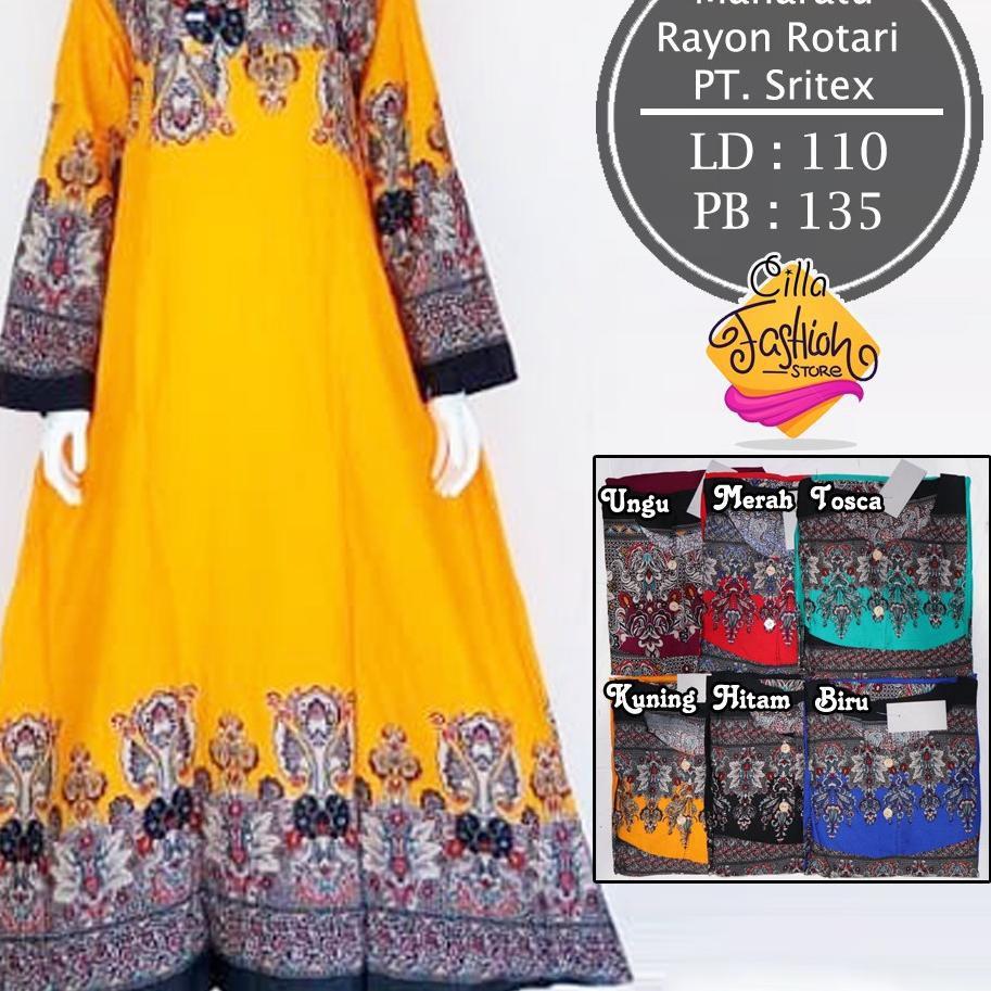 [READY] Longdress Batik Jumbo / Gamis Batik / Daster Muslim Bahan Rayon  Rotari PT Sritex