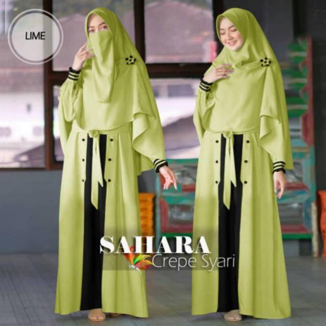 Baju Muslim Wanita Remaja Terbaru Gamis Dewasa Modern Kekinian Lengan Panjang 2020 Maxy Sahara Shopee Indonesia