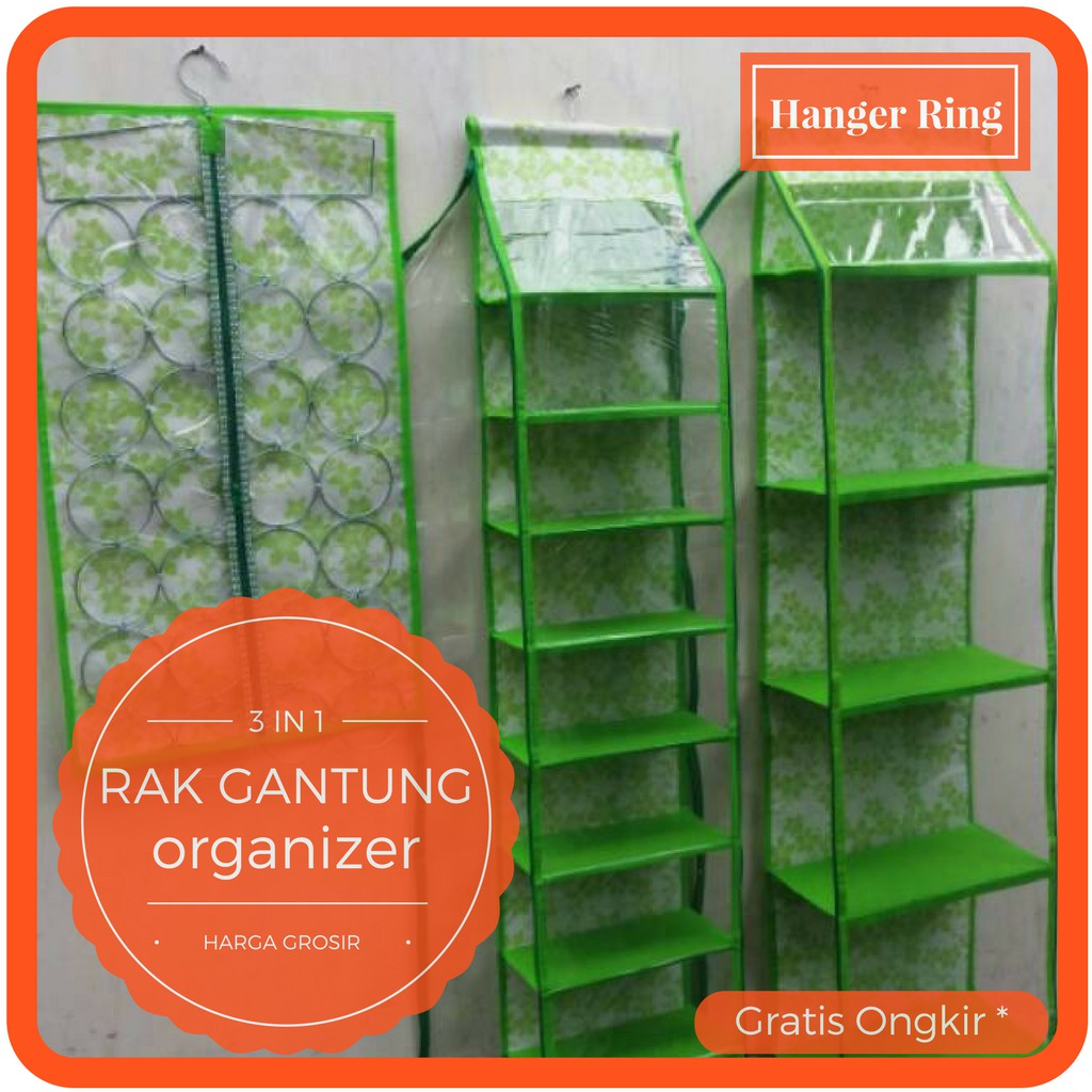 Clothes Organizer Polos 3 Sap Tempat Baju Box Rak Helm Gantung Shopee Indonesia