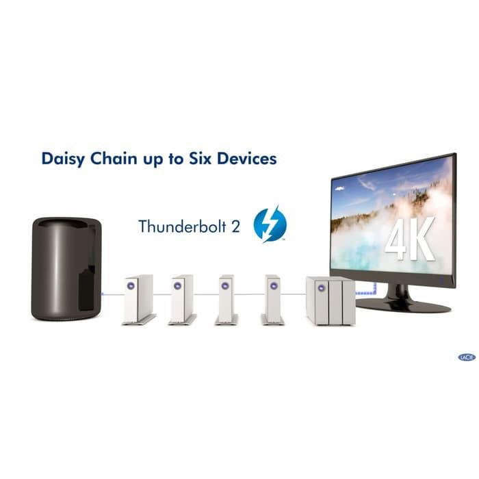 887/413 Lacie D2 8TB Thunderbolt 2 Desktop Drive Dual Thunderbolt 8 tb