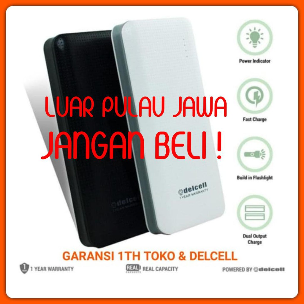 Powerbank Delcell Tornado 10000 Mah Fast Charging Qualcomm 30 New Link Wireless 8600mah Real Capacity Polymer Original Power Bank Quick Charge Shopee Indonesia