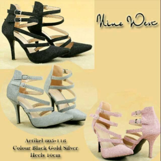 Femine Sepatu Sandal High Heels Wanita Glitar Krd19 Gold - Daftar ... 59e08b3cad