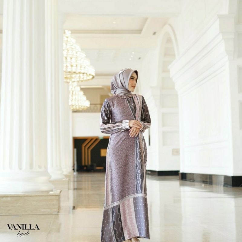 Edelweis Dress Dove Binar Dress Rose M Vanilla hijab