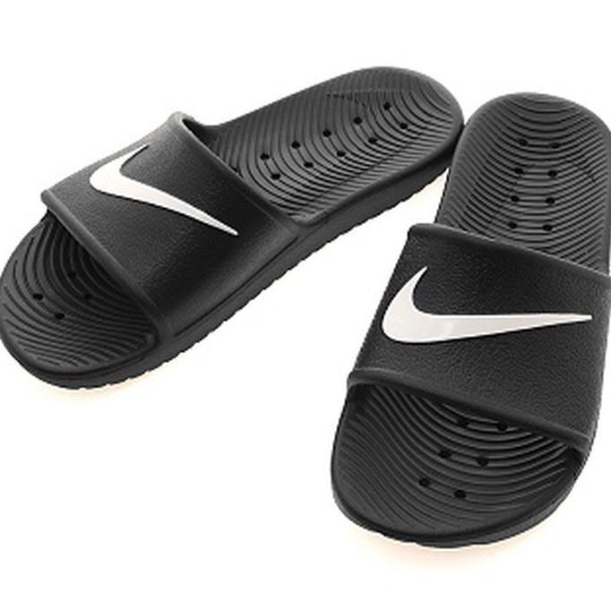 e6fb3024cef6 Jual!! Sendal Sandal Nike Kawa Shower Black White Original 100% Paling Bagus