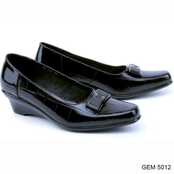 Garsel - Sepatu Formal Wanita/Cewek GEM 5010 | Wedges Murah Original | Shopee Indonesia