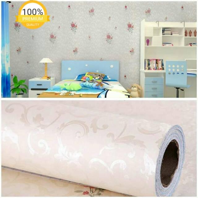 Wallpaper Dinding Murah Ruang Tamu Kamar Tidur Bunga Indah Cantik Menarik Bagus Elegan Shopee Indonesia