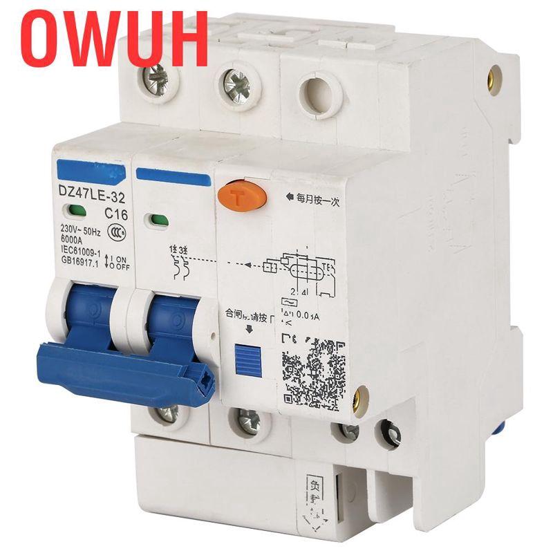 DZ47LE 1P+N 10A C type 230V~ 50HZ//60HZ Residual current Circuit breaker