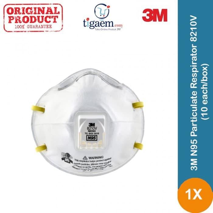 Each10 Particulate 10 8210v N95 - box Debu Cuci Masker Gudang 3m Respirator