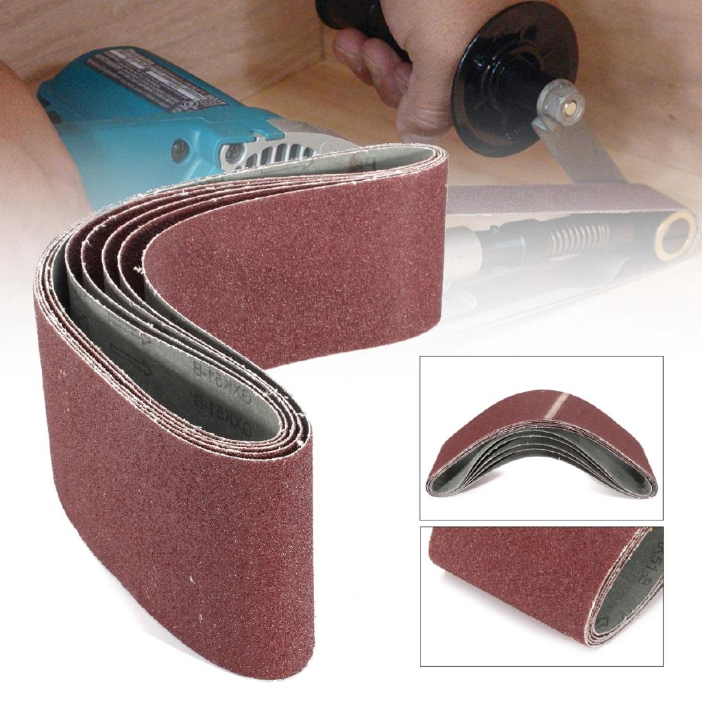 5Pcs 4/'/'x36/'/' 120 Grit Sander Grinding Polishing Aluminum Oxide Sanding Belts
