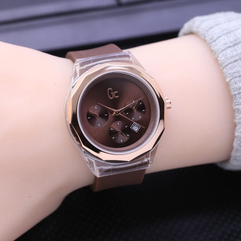 Jam Tangan Fashion Wanita Jam Tangan Wanita Guess Collection Gc L6958 Free Box Baterai Cadangan Shopee Indonesia