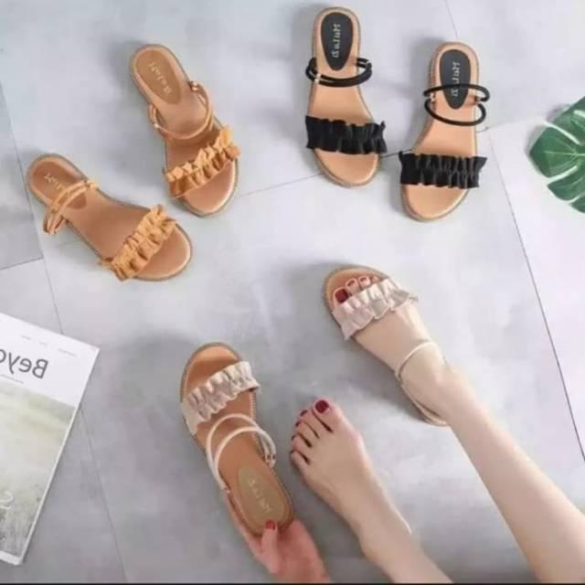Sandal Wanita Sandal Flat Sandal Teplek Gls 85 Model Trendy Elegan
