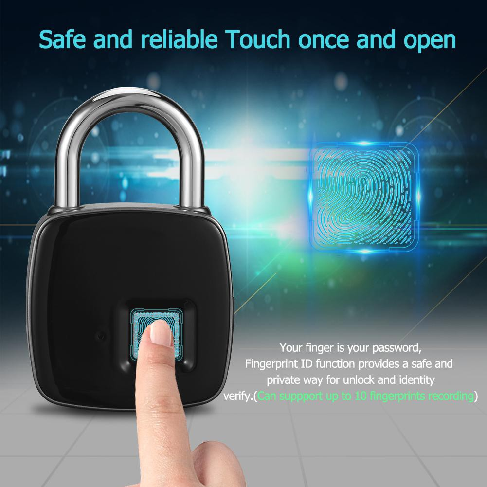 Anytek L1 Mini Smart Keyless Fingerprint Lock Waterproof Door Suitcase Padlock